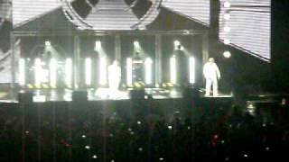 Westlife MEN Arena - Banner speech and Right Here Waiting