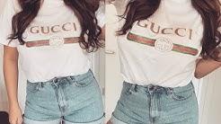 DIY T-Shirt bedrucken I Gucci Print I Bilder I Marina Si