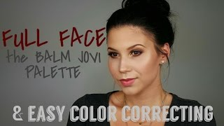 FULL FACE THE BALM JOVI PALETTE | EASY COLOR CORRECTING | eewrikanails