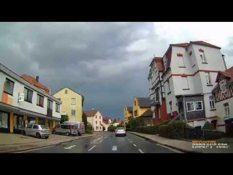 D: Staatsbad Bad Wildungen. Landkreis Waldeck-Frankenberg. Ortsdurchfahrt. August 2016