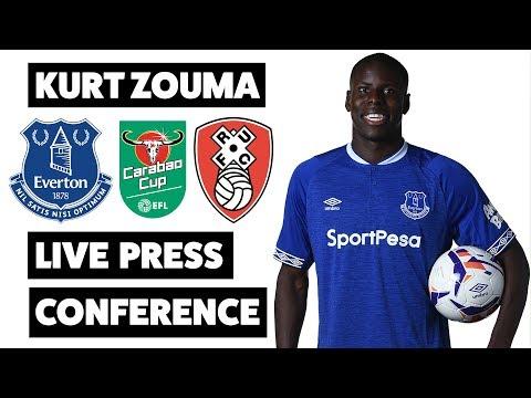 LIVE KURT ZOUMA PRESS CONFERENCE   CARABAO CUP: EVERTON V ROTHERHAM UNITED