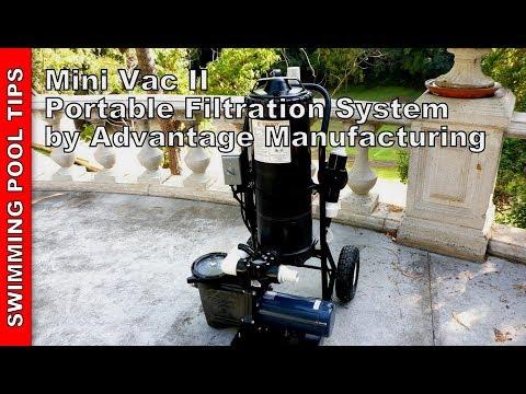 Mini Vac II Portable Pool Vacuum System by Advantage Manufacturing