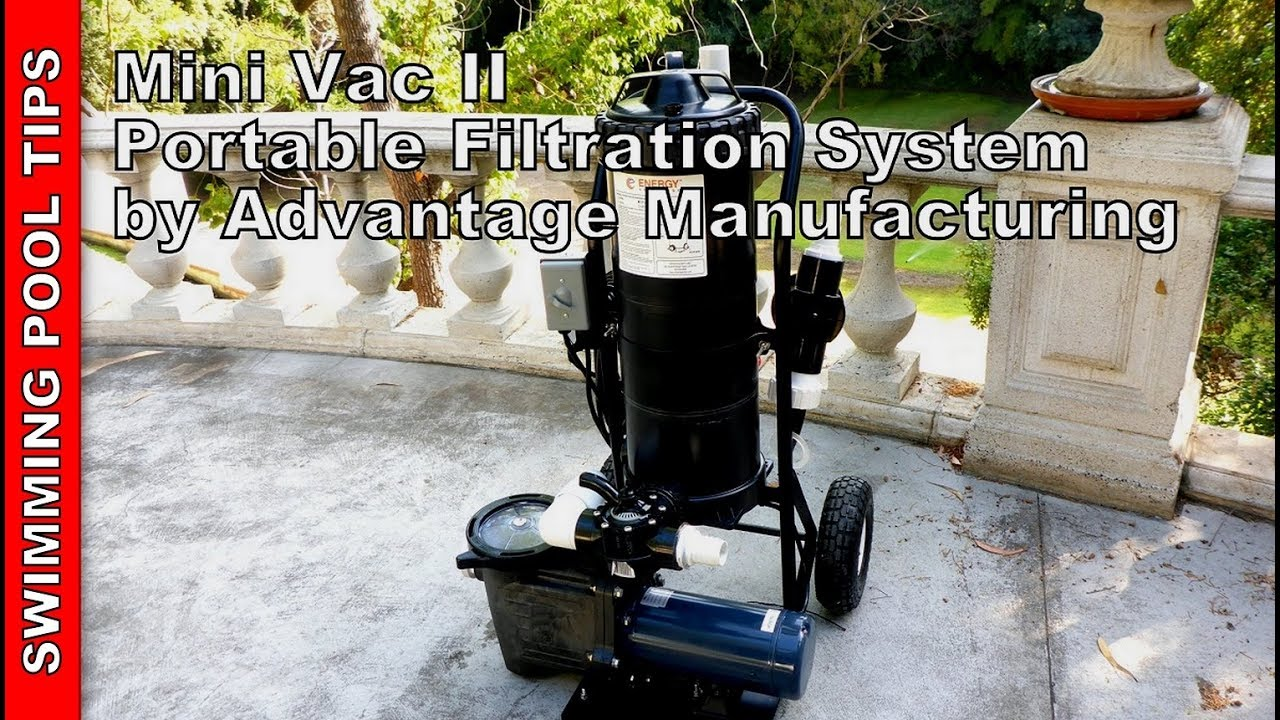 Mini Vac II Portable Pool Vacuum System By Advantage Manufacturing