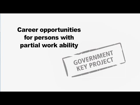 Let's find solutions - Career opportunities for persons with partial work ability