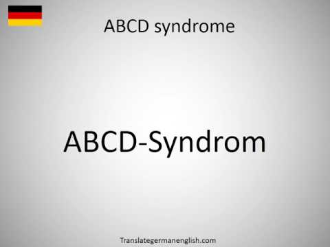 How to say ABCD syndrome in German?