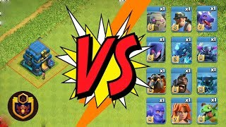 Th 12 GIGA TESLA vs ALL TROOPS in Clash of Clans