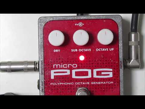 electro harmonix Micro POG on Bass