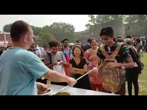 University of new delhi food festival 2016 Turkish magician icecream