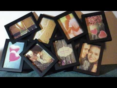 BestBuy Frames 8 Black Puzzle Opening Collage Picture Frame, Fits Standard 4x6 Inch Photos, Perfect
