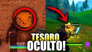 MAPA DEL TESORO OCULTO RIBERA REPIPI LOCALIZACION EXACTA EN FORTNITE!