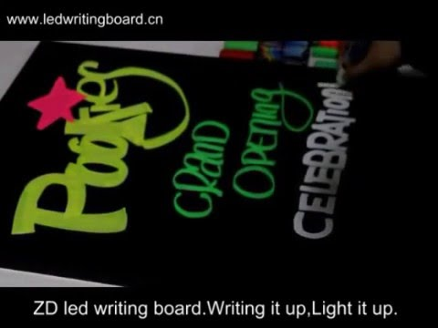 How to use the LED Fluorescent Marker Pen?