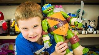 Teenage Mutant Ninja Turtles Ninja Control Leonardo TMNT RC Ninja Turtle Toy Kinder Playtime
