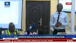 Collation Of Results In Osun Governorship Election Pt.11  Osun Decides 