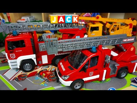 Bruder Fire Engines for Kids Toy UNBOXING - Kids Playing with Toys