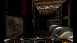 Duke Nukem 3D (Sega Saturn) Netlink Xband Gameplay