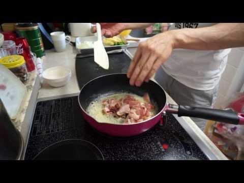 男のテキトー料理チキンマカロニグラタン