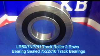 LR50//7NPPU 7x22x10 Track Roller Miniature Ball Bearing Bore 7mm x 22mm Diameter