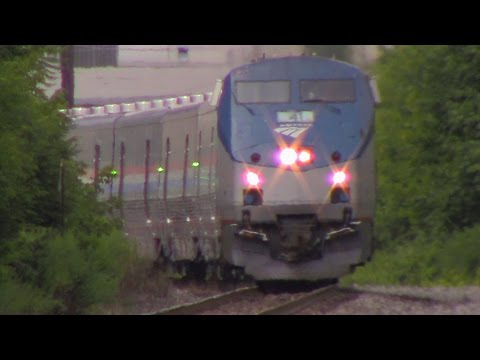 Amtrak Special CAF with Viewliner II Baggage Cars on the NS Southern Tier