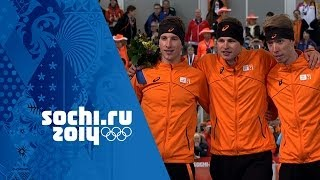 Men's Speed Skating - 5000m - Kramer Wins Gold | Sochi 2014 Winter Olympics