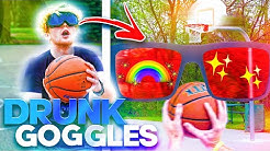 Drunk Goggles 3 Point Basketball Challenge!