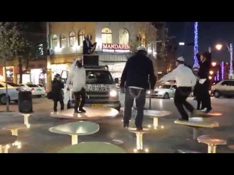 ISRAEL. HASIDIC JEWS DANCING IN JERUSALEM.