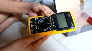 DT 9205A Multimeter unboxing