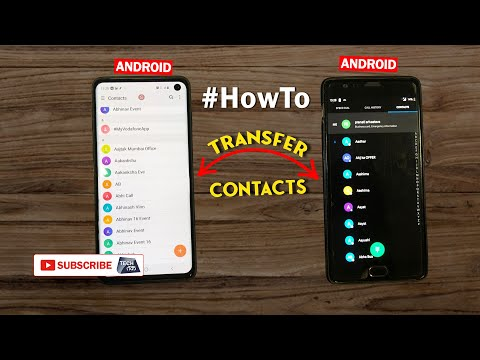 How To Transfer Contacts Android To Android  #howto | Tech Tak