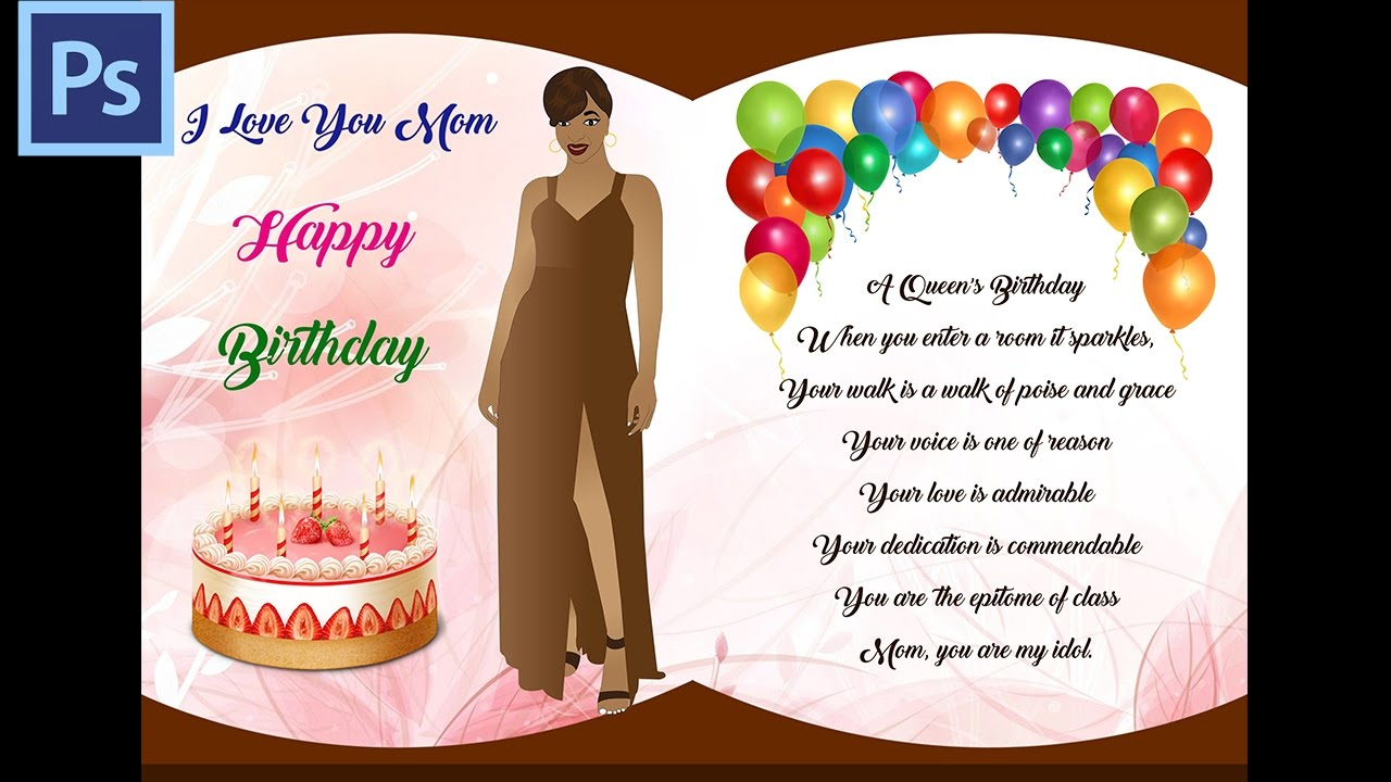 How To Create Amazing Birthday Card For Mommy Photoshop Design
