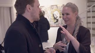 Philip DeClare discussing Art Management with Swedish pop artist Diana Wahlborg