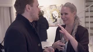 Philip DeClare discussing Art Management with Swedish pop artist Diana Wahlborg