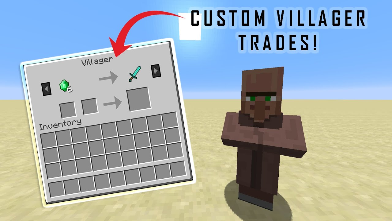 CUSTOM VILLAGER TRADES - Minecraft Command Block Tutorial - YouTube