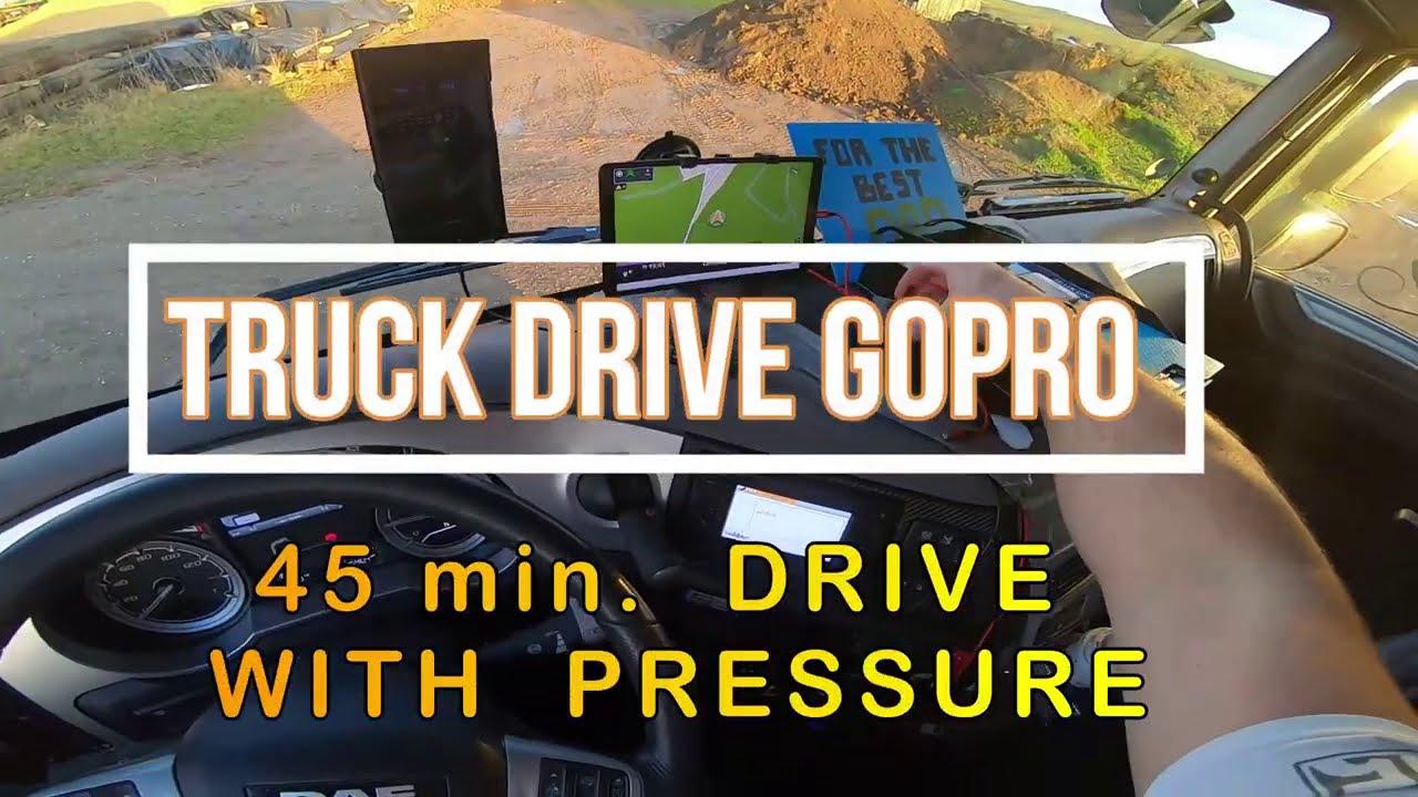 45 min.drive with pressure