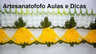 Bico de Crochê Laranjinha