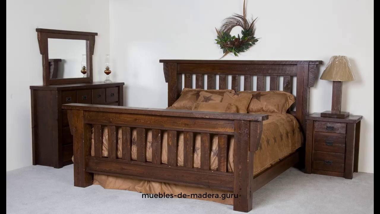 20 ideas de camas modernas en madera r stica youtube for Estanterias rusticas de madera