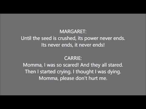 """""""And Eve Was Weak"""" (Carrie the Musical) Carrie's part only"""