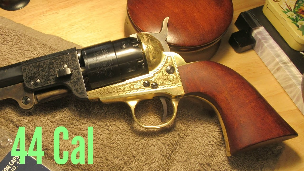1851 navy 44 cal by pietta brass engraved first look youtube