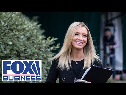 Kayleigh McEnany holds a press briefing at White House