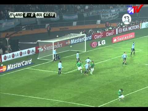 COPA AMERICA  ARGENTINA 0 vs BOLIVIA 1 gol de Edivaldo Rojas