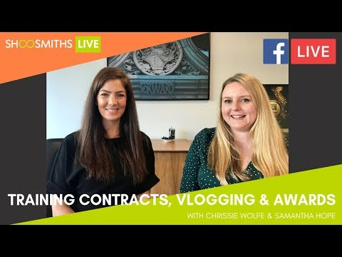 #ShoosmithsLIVE: Training Contracts, Vlogging & Awards