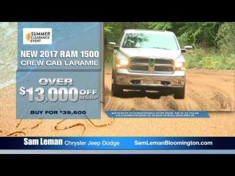 Sam Leman Dodge >> Sam Leman Chrysler Dodge Jeep Ram Bloomington Summer Clearance Event 30 Tv 07 2017