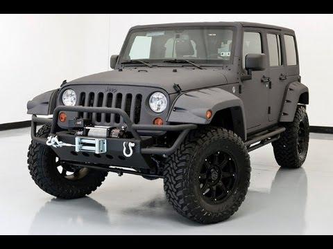 2013 Jeep Wrangler Unlimited With Custom Skyjacker Lift