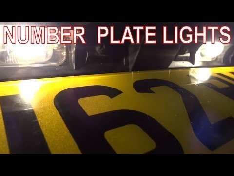 How To Fix Rear Number Plate Lights. License Plate Bulbs Or Wiring At Fault?