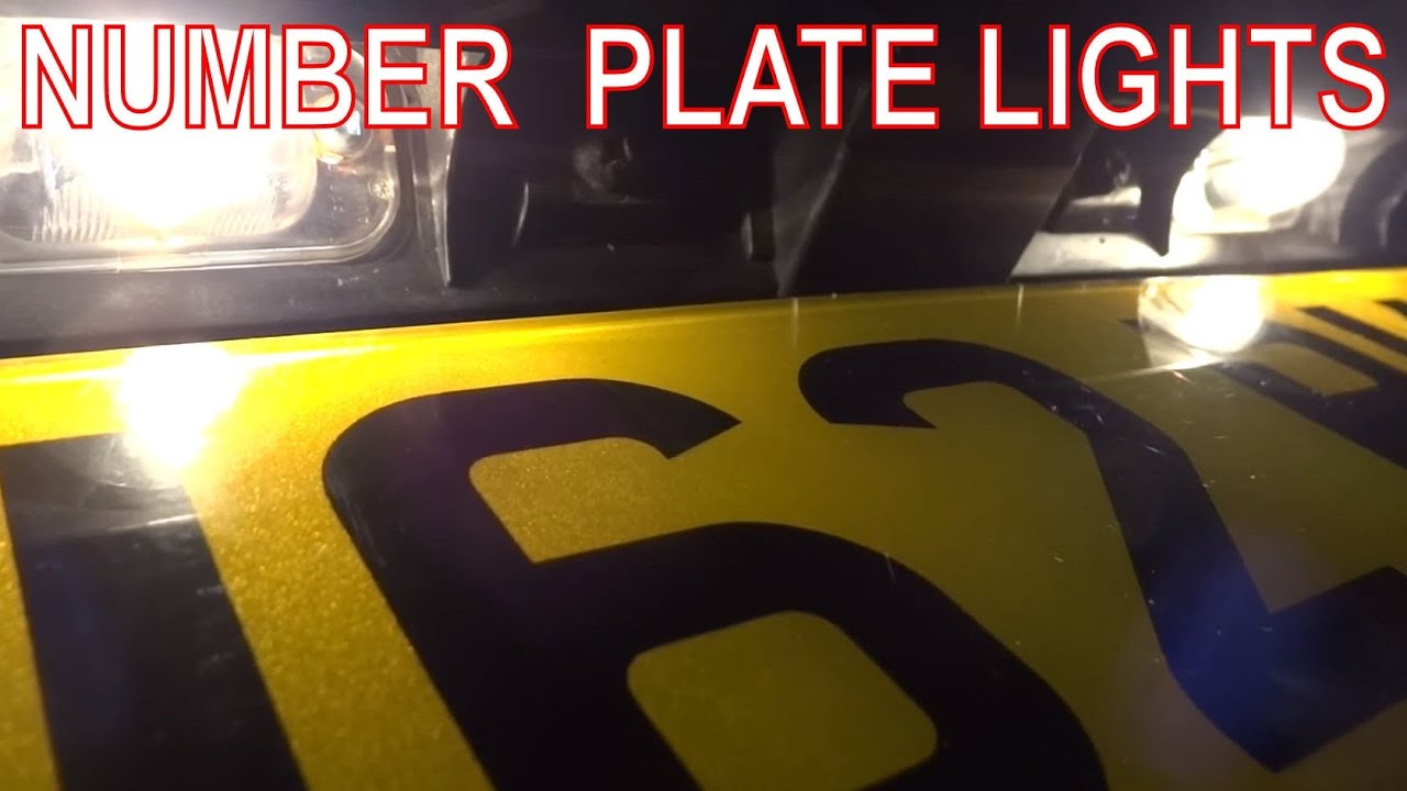 How To Fix Rear Number Plate Lights  License Plate Bulbs