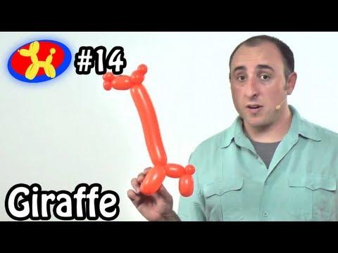 One Balloon Giraffe - Balloon Animal Lessons #14