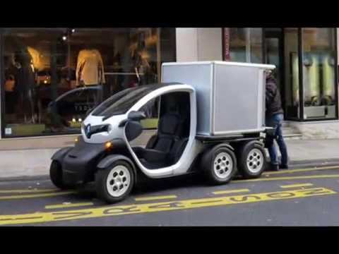 renault twizy delivery concept youtube. Black Bedroom Furniture Sets. Home Design Ideas