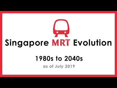 SG MRT Evolution - 1980s To 2040s | As Of July 2019