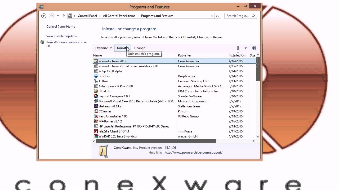 How to uninstall PowerArchiver