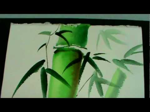 Watercolor Painting Tutorial Bamboo By Ping Moroney