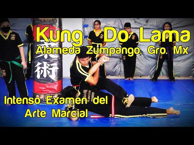 Intensidad en examen del arte marcial de Kung Do Lama Alameda Zumpango