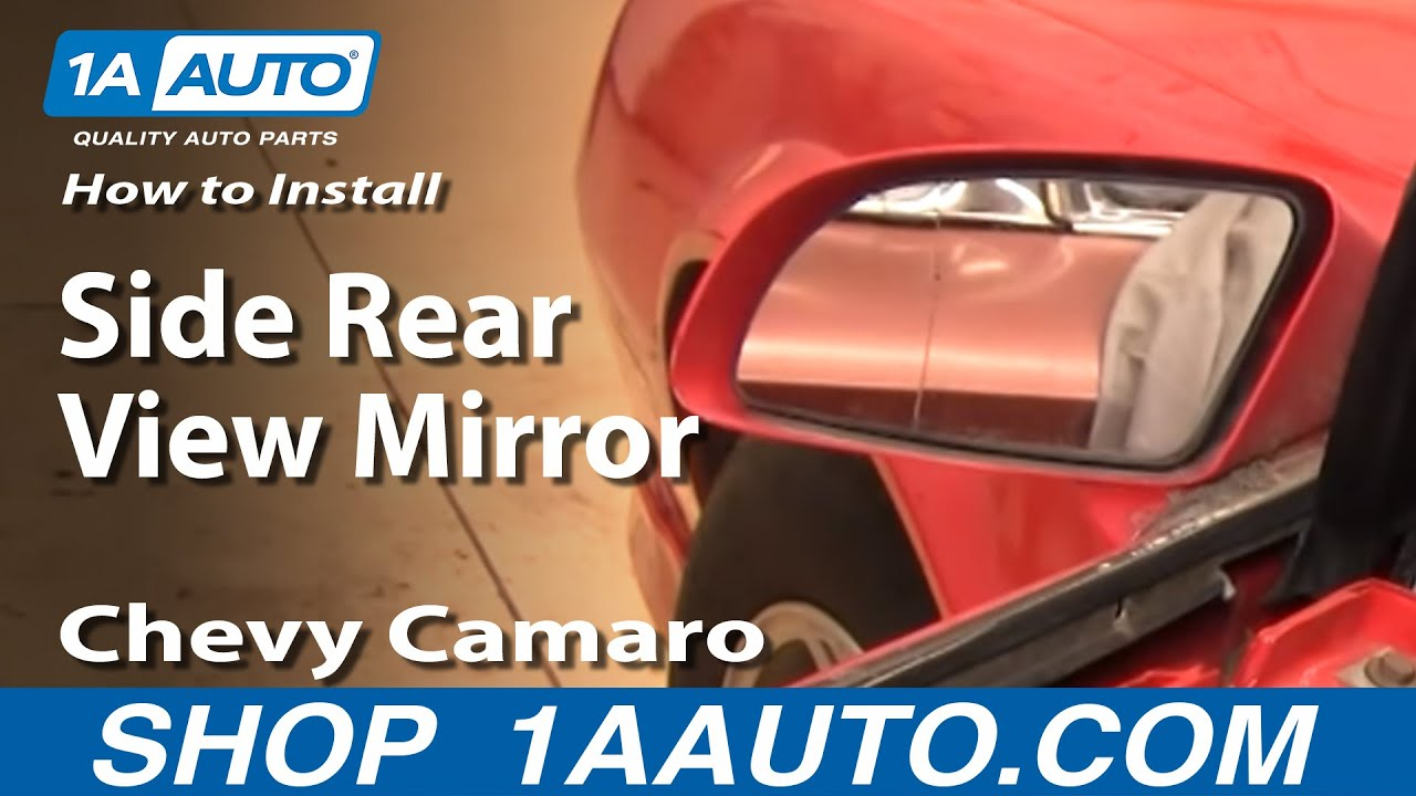 How to Replace Mirror Glass 8292 Chevy Camaro  YouTube